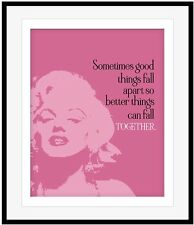 Wall Art, Marilyn Monroe, Custom Designed Print, Canvas or Plaque Mount, Quotes