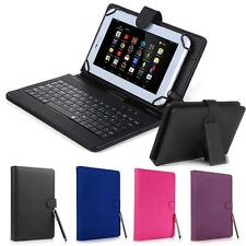 "Universal Micro USB Keyboard Kickstand PC Leather Box Case For Android 7"" Tablet"