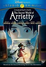 The Secret World of Arrietty DVD New Disney with Slipcover Free Shipping