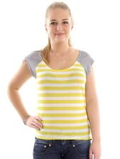 Hurley T-Shirt Top yellow Featherweights Mixer Crew neck Pattern