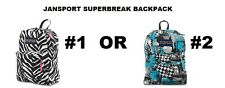 JANSPORT-SUPER-BREAK-CHOICE-OF-STYLE-#1-OR #2-BACKPACK-NEW-WITH-TAGS