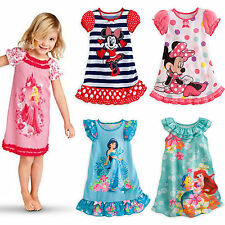 Kids Baby Girls Minnie Mermaid Party Dress Vest Skirt Toddler Clothes Sundress