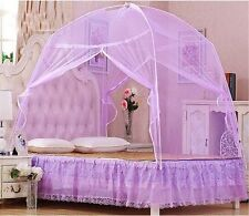 Purple Hight QC Bed Canopy Mosquito Netting Tent  For Twin QueenBed Size