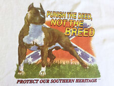 NEW DOG BREED AMSTAF PITBULL BSL TSHIRT - Punish the deed, Not the breed!