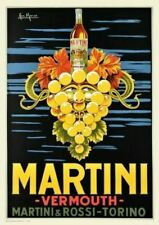 MARTINI VERMOUTH VINTAGE ALCOHOL PUB BAR DECOR METAL TIN SIGN POSTER PLAQUE