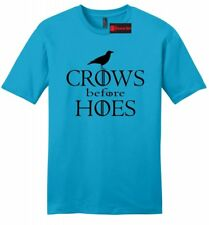 Crows Before Hoes Mens Soft T Shirt Thrones  Lover Gamer Gift Tee Shirt Z2