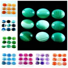 Wholesale 9pcs 20x15mm Mixed Gemstone Oval Cab CABOCHON Marking Jewelry W-XJM
