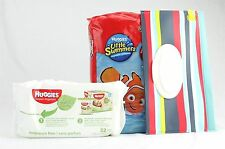 Disposable Swim Diapers Hugies Little Swimmers Swimpant Size Lg & Wipes