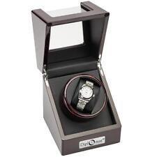 Diplomat Estate Collection - Single (1) Wood Watch Winders Brul Cherry Ebony