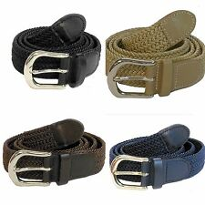 "Men's Woven Braided Elastic Stretch Golf Belt Wholesale 1-1/4"" Wide 7200"