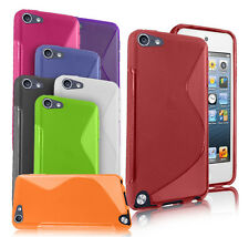GRIP S-LINE SILICONE GEL CASE FITS APPLE IPOD TOUCH 5TH GEN + SCREEN PROTECTOR