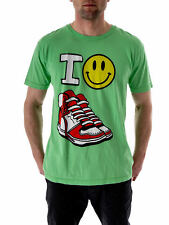 Local Celebrity T-Shirt Tee Shirt green Happy Shoes Crew neck short sleeve