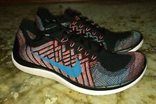 NEW Mens 9.5 10 NIKE Free 4.0 Flyknit Black Blue Training Running Shoes Sneakers