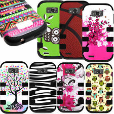 Snap On Hybrid TPU Hard Plastic Design Phone Cover Case for ZTE Savvy