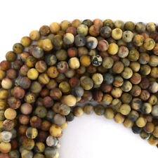 """Matte Natural Crazy Lace Agate Round Beads Gemstone 15.5"""" Strand 6mm 8mm 10mm"""