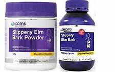 BLOOMS SLIPPERY ELM RANGE POWDER OR VEGE CAPSULES