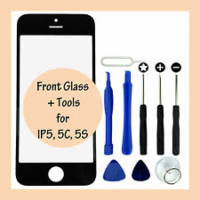 LCD Front Screen Replacement Glass Lens Panel & Tools for Apple iPhone 5 5C 5S