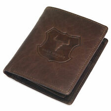 New Genuine Leather Mens Bifold Wallet Full ZIPPER Purse Vintage Retro Style