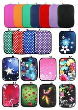 """Neoprene Sleeve Cover Case Pouch with Zip for various 9.7 - 10.1"""" inch Tablet"""