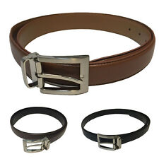 New Genuine Leather Solid Square Buckled Suits Belts Business Casual Accessories