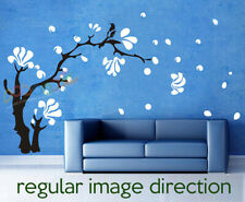 """Wall Decor Decal Sticker Removable Large Magnolia Tree With Magpie Bird 60""""H"""