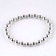 Silver Plated Beaded Stretch Women's Bracelets New Fashion Gift