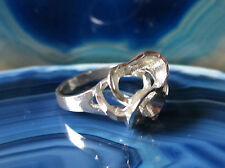 Ring Silver 925 Heart Hearts interlocking entwined Silver Ring