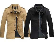 Mens Military Style Jacket Classic Outdoor Casual Business Coat Utility Handsome