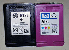 Genuine New Hewlett Packard 61XL Tri-color and 61XL Black Inkjet Two-Pack