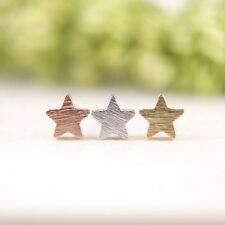 Silver Gold Rose Plated Tiny Star Earrings Small Pair of Studs in Gift Bag/Box