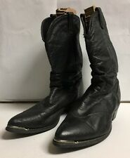 Womens Dingo Black Leather Slouch Cowboy Boots - Size 8.5 M - Style 17310