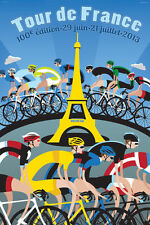 Paris Tour de France 2013 Cycling METAL TIN SIGN POSTER WALL PLAQUE