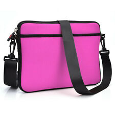 Hot Pink Soft Business Briefcase School Messenger Laptop Bag Cover for Laptop