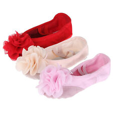 Kid Girl Flower Shoes Canvas Fitness Gymnastic Ballet Dance Party Slipper Pointe