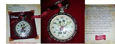 MICKEY MOUSE 2004 POCKET WATCH HALLMARK DISNEY KEEPSAKE ORNAMENT SERIES NEW/BOX