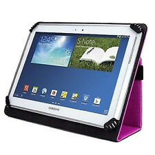 Pink Universal Leather Wallet Style Stand Case Cover for Windows  Android Tablet