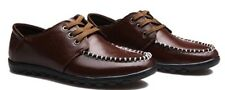New Mens Casual Moc Toe Leat Lace Up Genuine Leather Drive Shoes Hombre 6-9.5