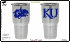 Kansas Jayhawks Nation (Set of 2) Vinyl Decal for Yeti Tumbler NCAA Car New