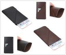1X Universal Business Synthetic Leather Card Slot Sleeve Phone Case Purse Pouch