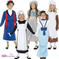 Girls Victorian School Poor Girl Nanny Lady Child Book Day Fancy Dress Costume
