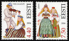 Stamp SET of ESTONIA 2004 -  Estonian Folk costumes – Johvi & Viru-Jaagupi