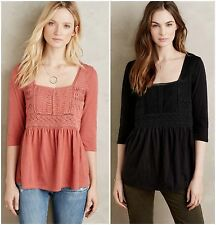 NWT Anthropologie Nosara Lace Tee by Meadow Rue, XXS, S, SP, M, MP, L, LP, XL