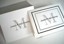 50 Personalized Custom Note Cards & Envelopes, Blank Inside Thank You cards