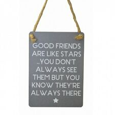 GOOD FRIENDS ARE LIKE STARS, DON'T ALWAYS SEE THEM KNOW THERE Metal MINI Plaque