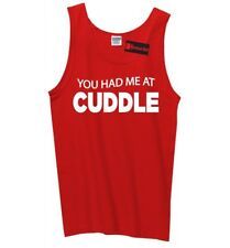 You Had Me At Cuddle Funny Mens Tank Top Valentines Day Gift Sleeveless Tee Z3