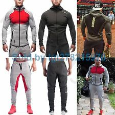 Sports Suit Muscle Brothers Gymshark Long Coat Jacket Pants Running Hoodie Men