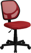 Armless Mesh Back Matching Mesh Fab. Seat Home Office Desk Task Chairs 8 Colors
