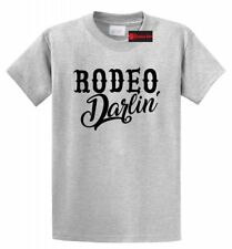 Rodeo Darlin T Shirt Cute Girlfriend Wife Gift Tee Country Redneck Cow Tee S-5XL