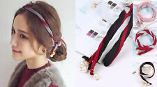 Korean Style Head Band Bun Styling Tool Pearl Hair Beads Tie Extension Ponytails