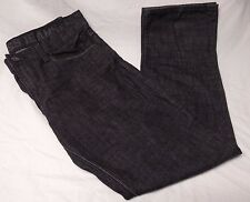 Men's Express Rocco Slim Fit Straight Leg Jeans Black Low Rise Size 34 x 32